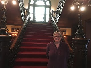Photo of Marta at Rockcliffe Mansion's Grand Staircase